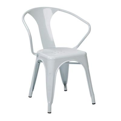 Patterson White Metal Arm Chair (Set of 4)