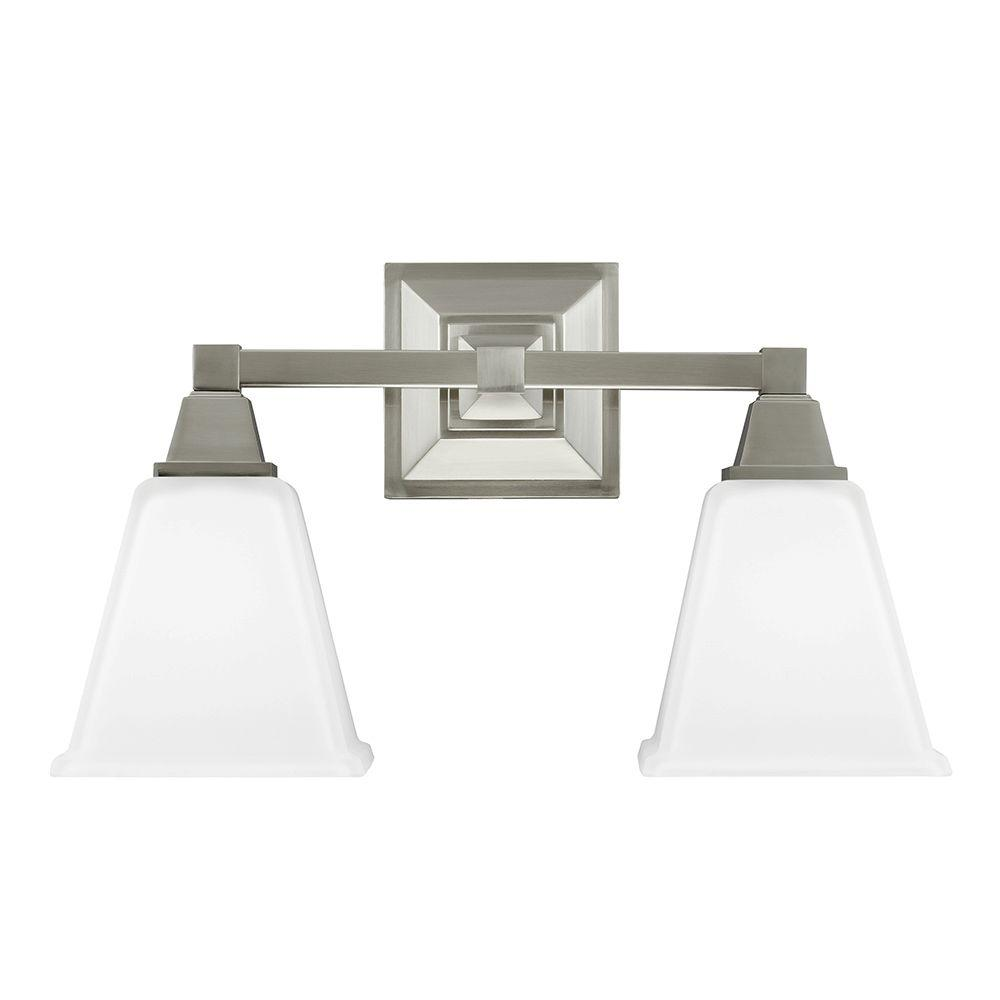Sea Gull Lighting 44237 962 3 Light Brushed Nickel Bathroom Vanity Wall Fixture