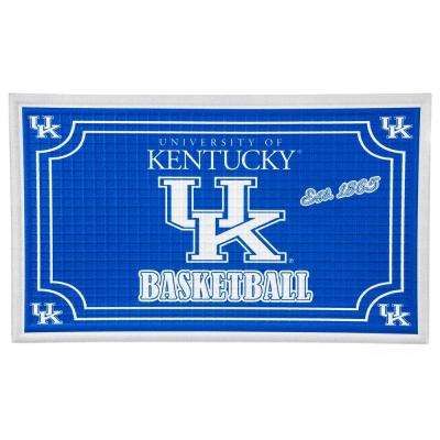 University of Kentucky 18 in. x 30 in. Embossed Welcome Mat