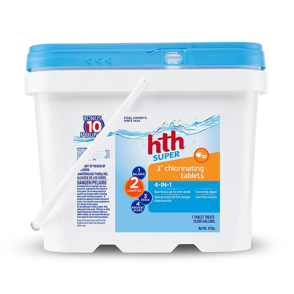 Hth 10 Lbs Pool Chlorine 3 In Chlorinating Tablets 4 In