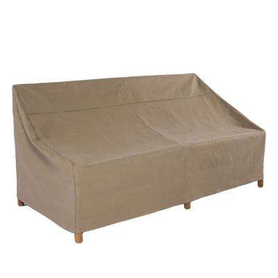 Essential 87 in. Tan Patio Sofa Cover