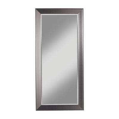 Contemporary Silver Full Length Leaner Floor Mirror