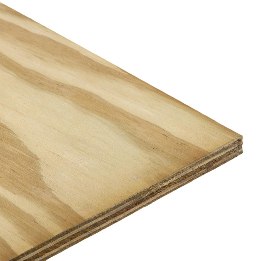 Dimensions 15/32 in. x 2 ft. x 4 ft. Pressure-Treated Pine Plywood