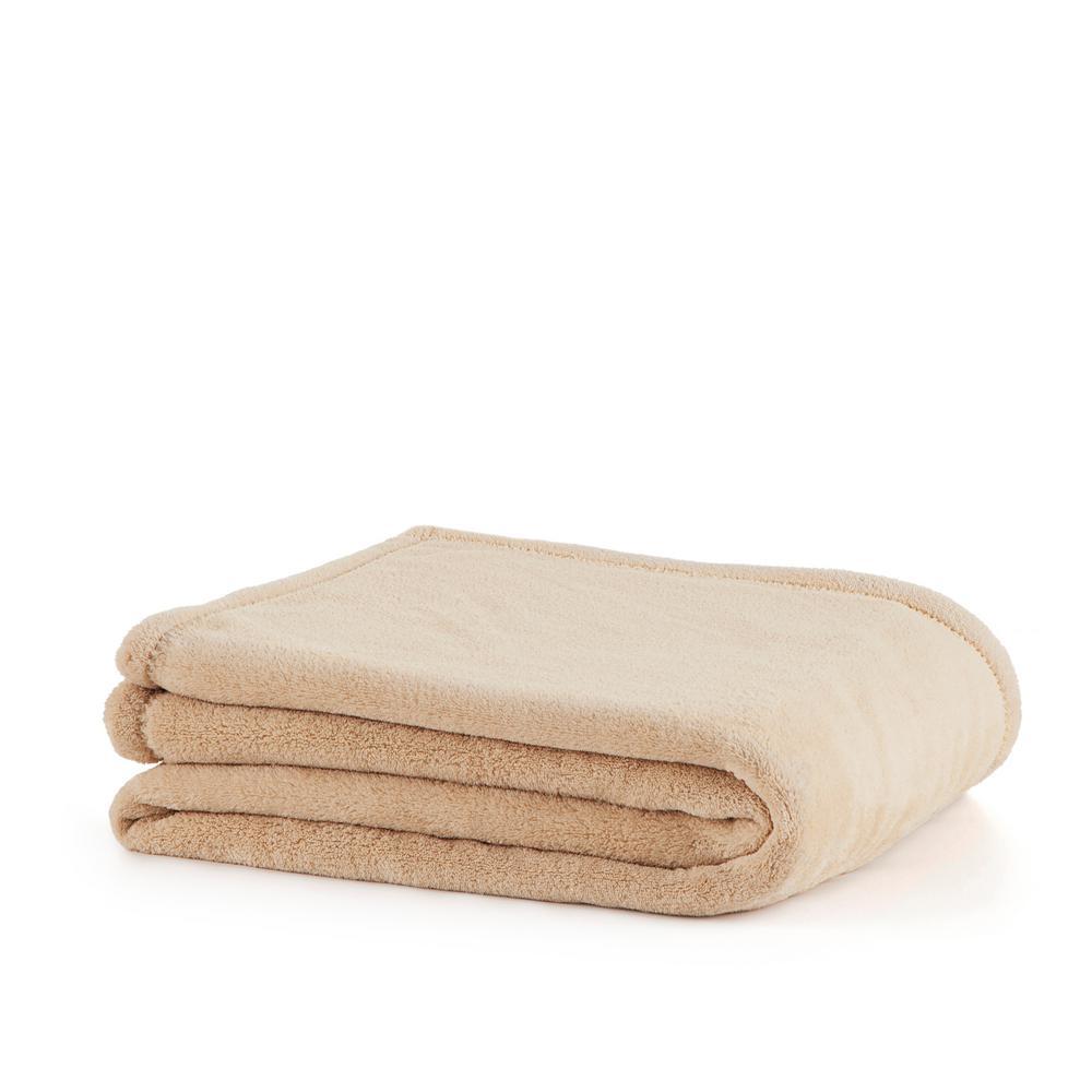 Plush Linen Polyester Throw
