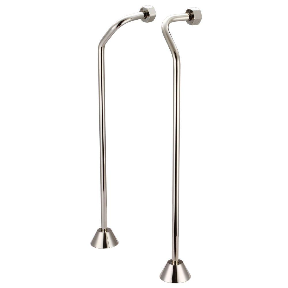 Clawfoot Tub Supply Lines.Water Creation 1 2 In Or 3 4 In Double Offset Supply For Claw Foot Tubs Polished Nickel