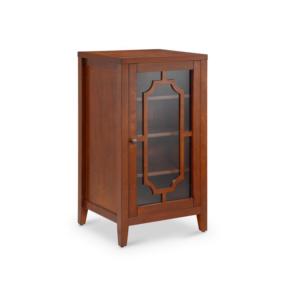 Acme Furniture Fina 8 Bottle Accentwine Cabinet In Burgundy 97182