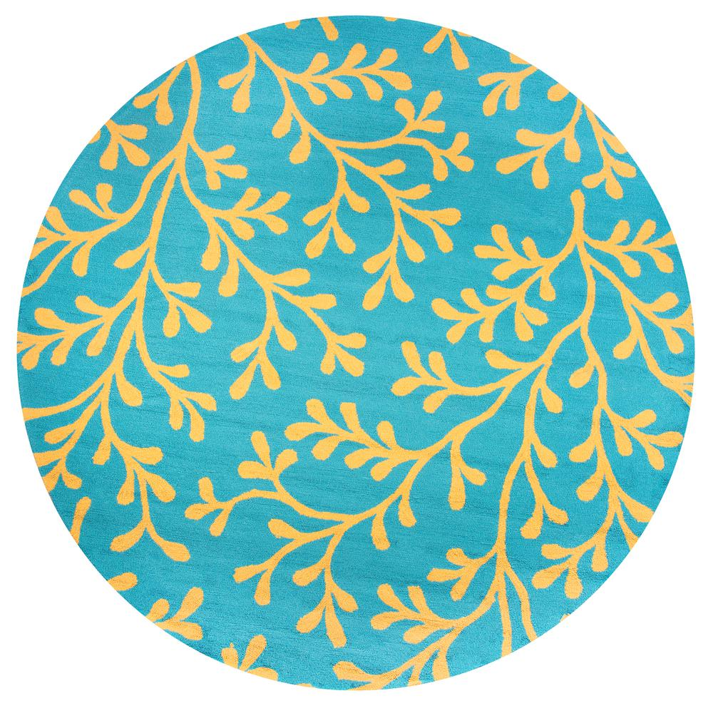 Rizzy Home Azzura Hill Dark Teal Floral 8 Ft. X 8 Ft