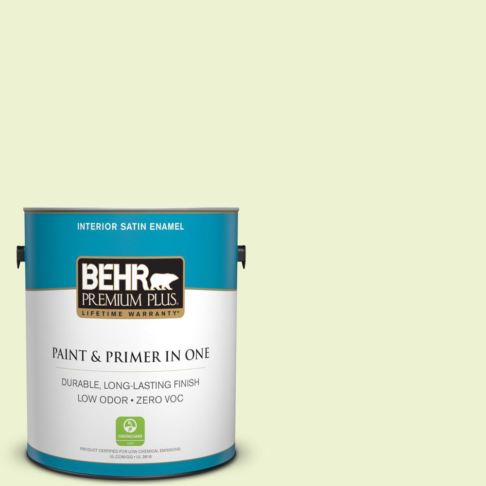 1-gal. #420A-1 Green Shimmer Zero VOC Satin Enamel Interior Paint
