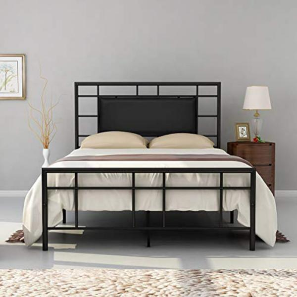 Boyel Living Black Metal Bed Frame