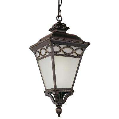 Dublin 20 in. 1-Light Black Outdoor Hanging Lantern