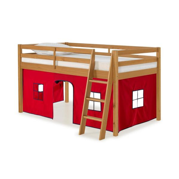 Alaterre Furniture Roxy Cinnamon with Red and Blue Bottom Tent Twin