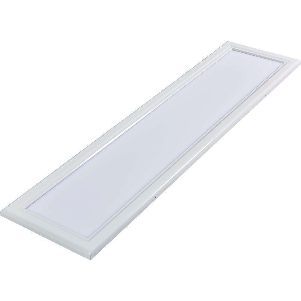 1 ft. x 4 ft. White Dimmable Edge-Lit 40-Watt 3000K Integrated LED Flat Panel Flushmount