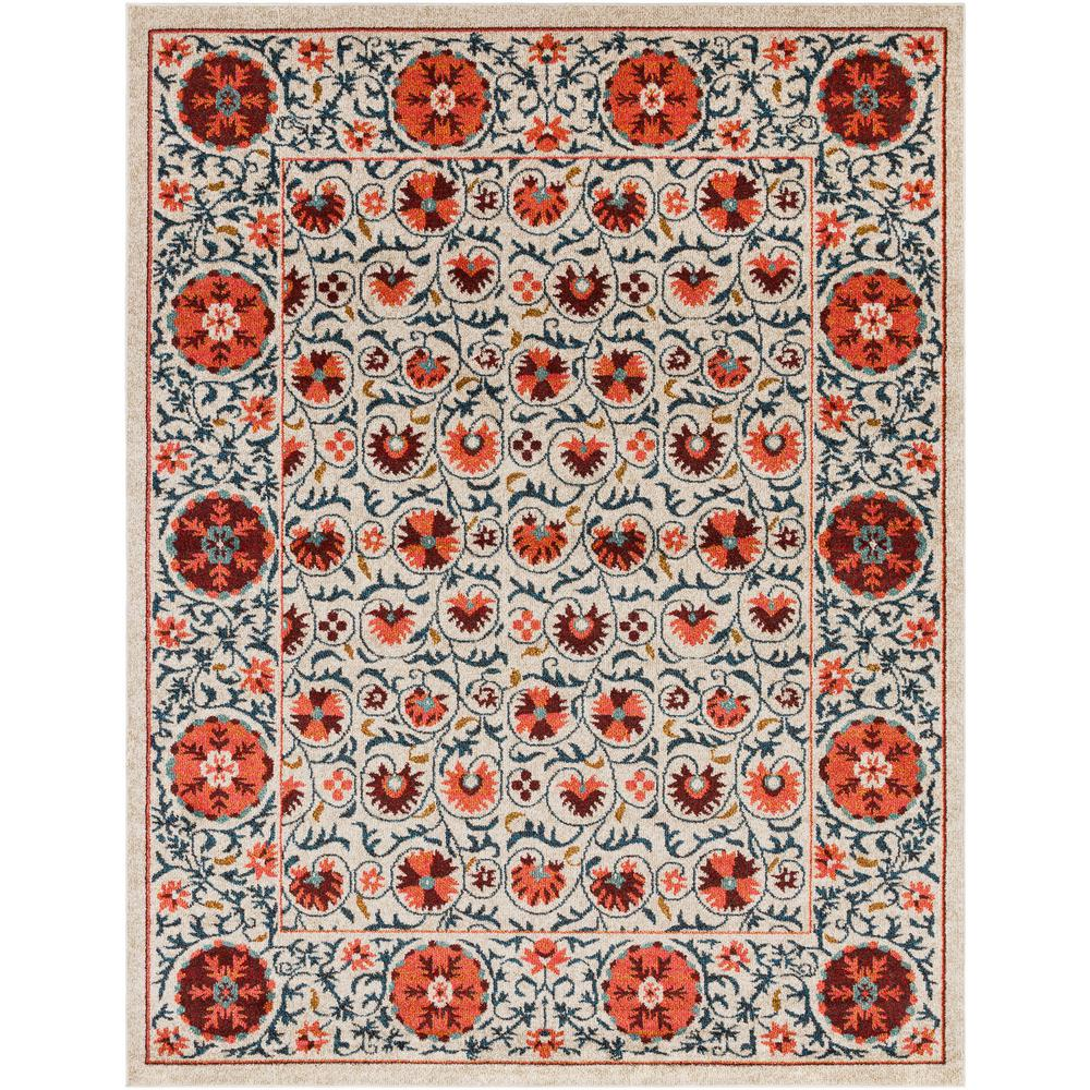 Artistic Weavers Yasuko Cream/Pink 8 Ft. X 10 Ft. Area Rug