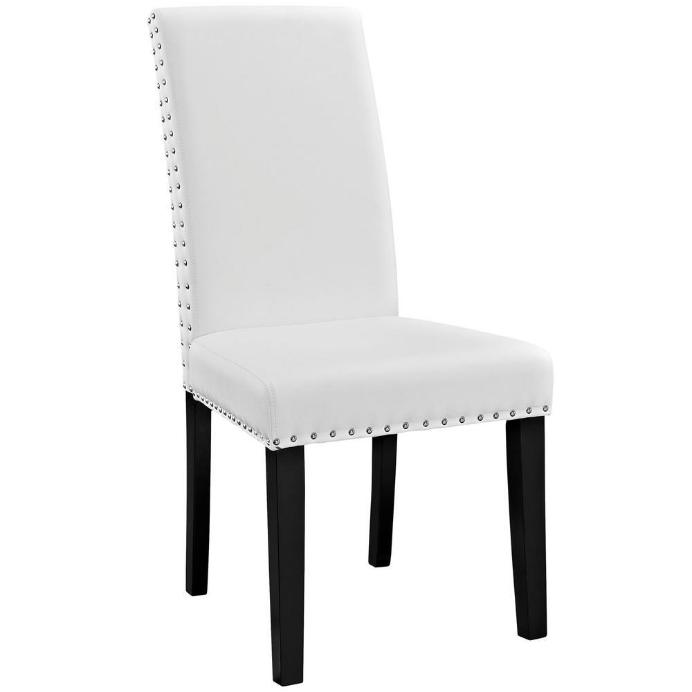 White Parcel Dining Vinyl Side Chair