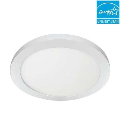 11 in. 12.5-Watt Dimmable White Integrated LED Edge-Lit Round Flat Panel Ceiling Flushmount with Color Changing CCT