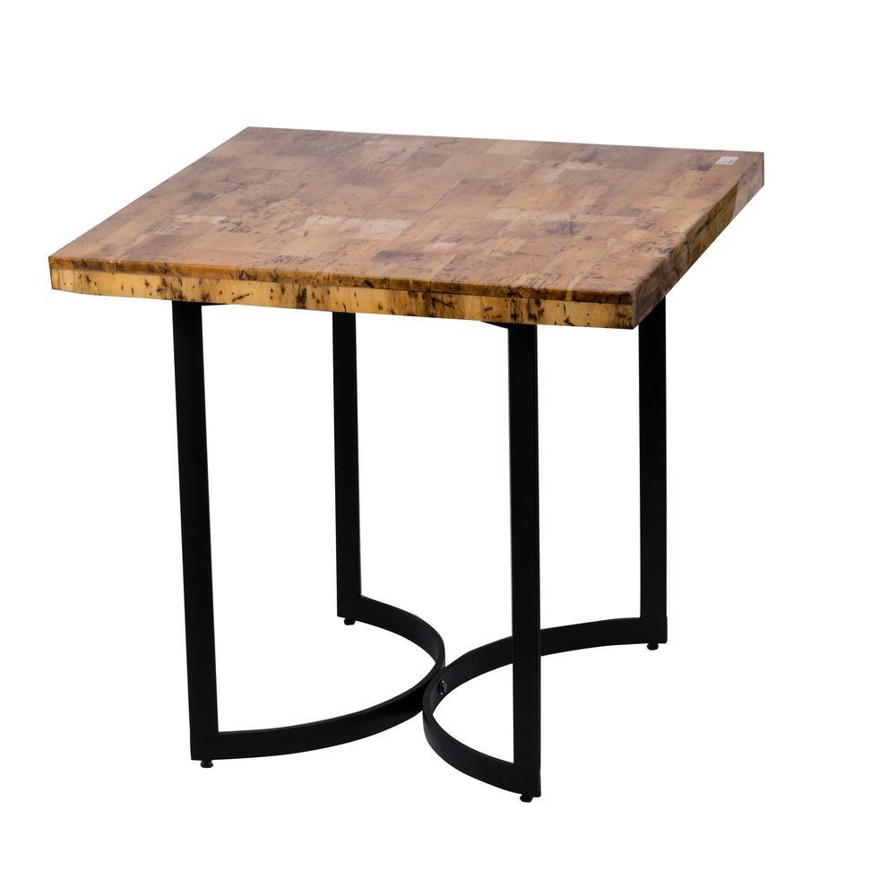 Modern Matte Black Rectangle Side Table