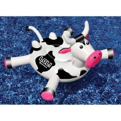 LOL Series 56 in. x 52 in. Black/White Crazy Cow Pool Float