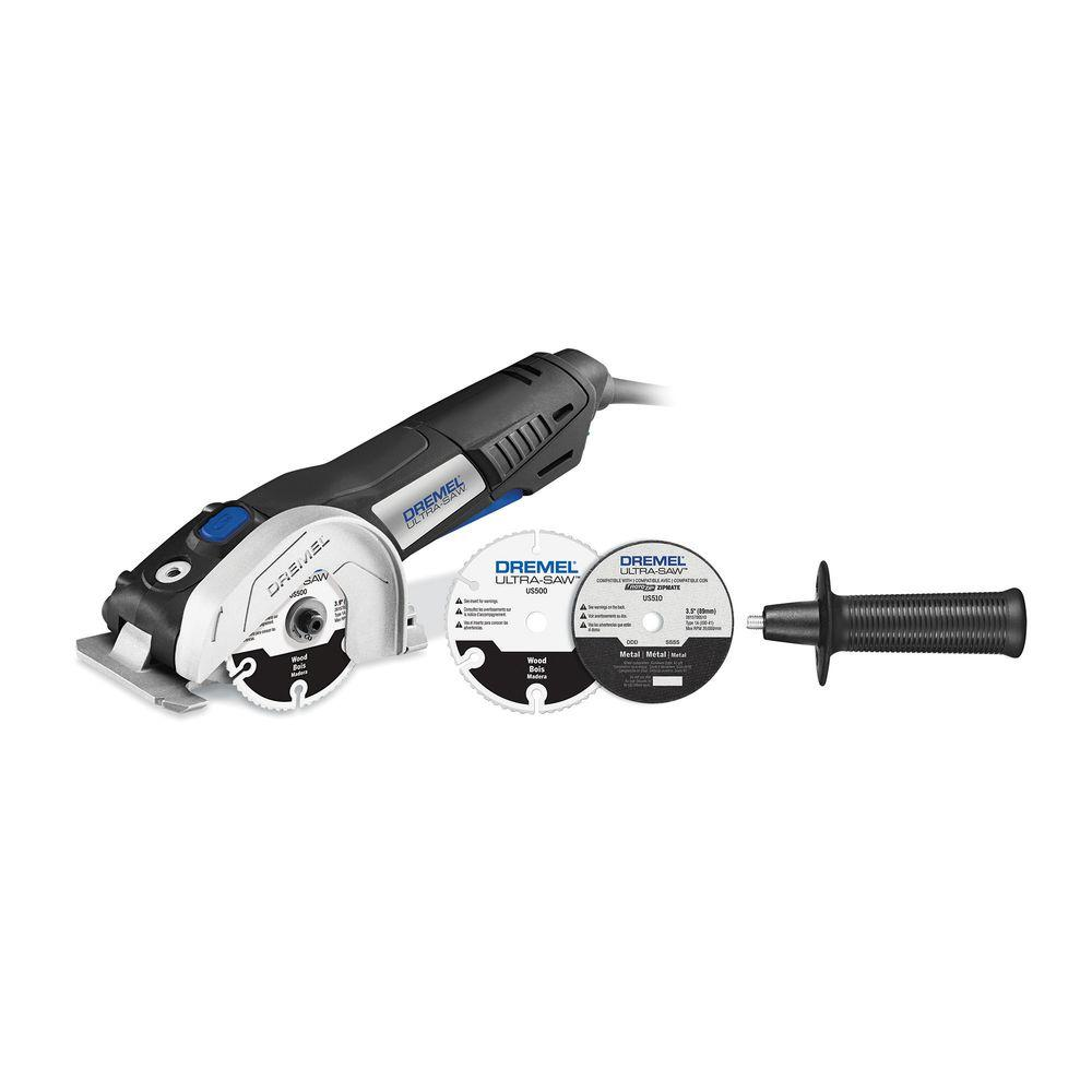 Dremel Ultra-Saw 7.5 Amp Corded 4.5 in. Tool Kit with 2 Accessories ...