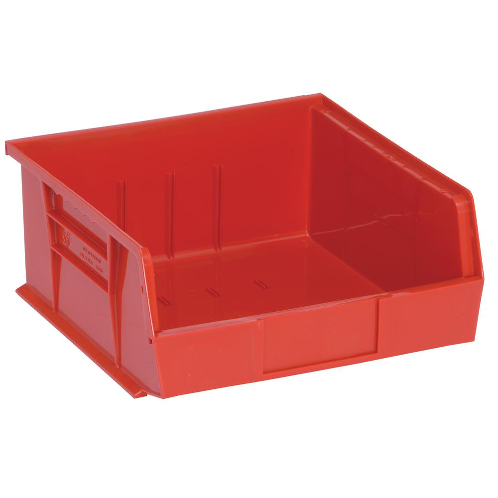 Ultra Series Stack and Hang 6 Gal. Storage Bin in Red