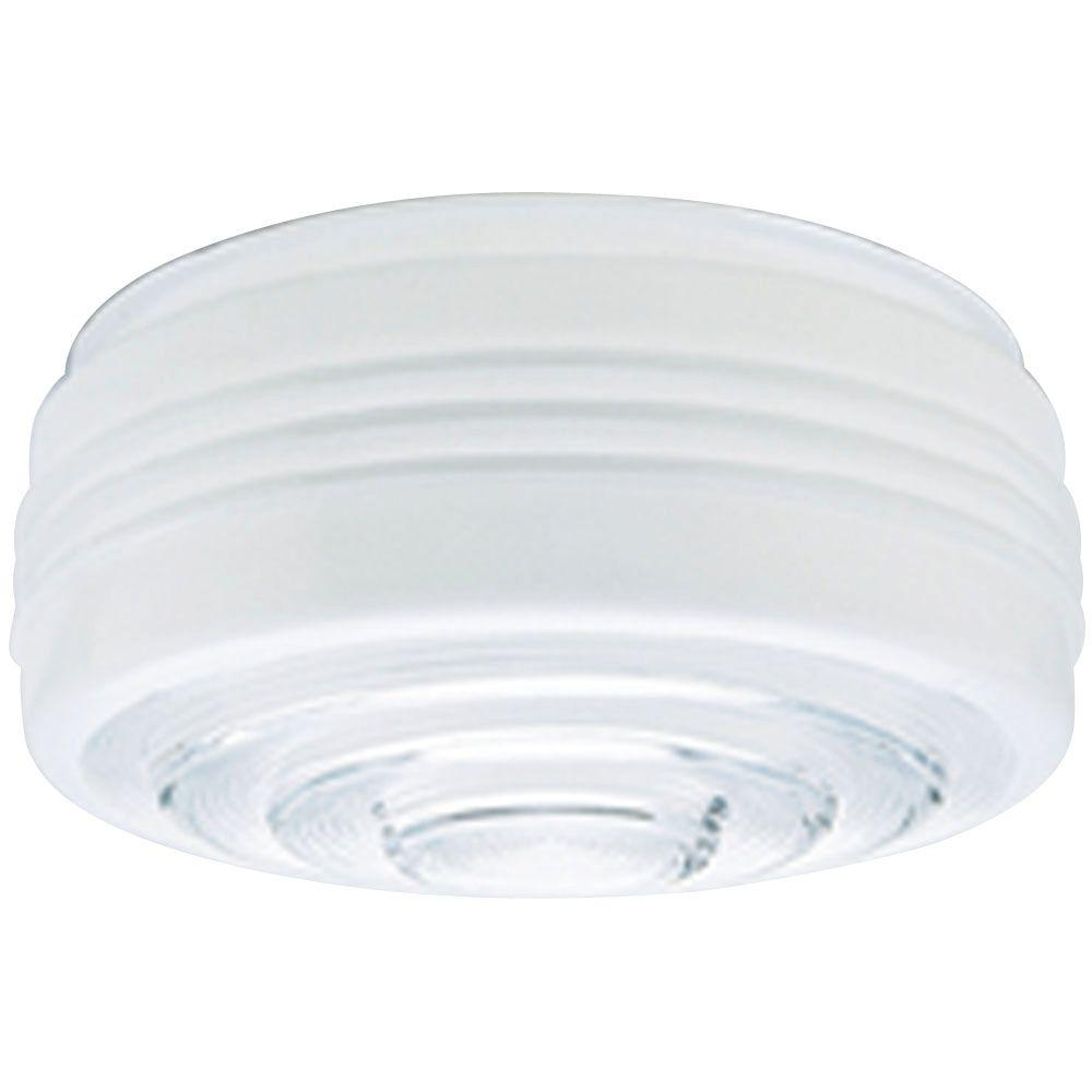 Westinghouse 4-1/4 in. White and Clear Drum Shade with 10...