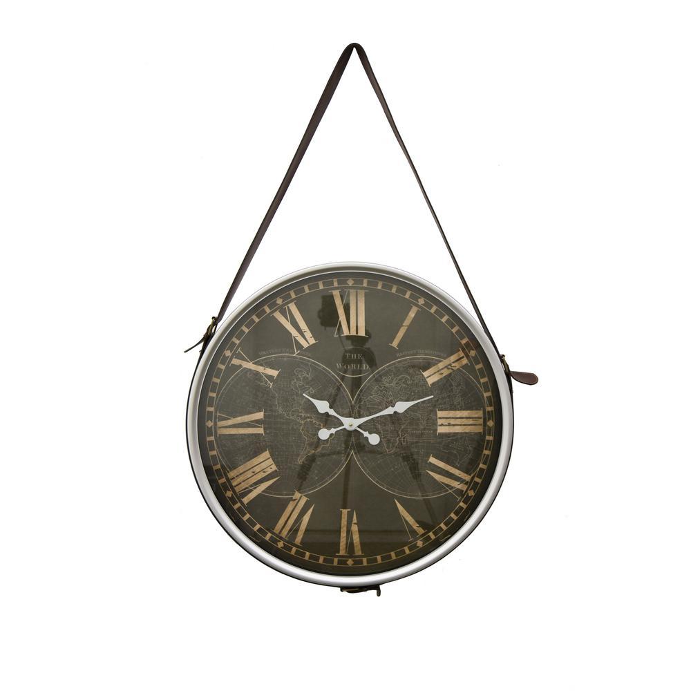 Silver Hanging Wall Clock