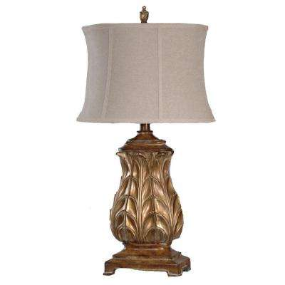 33 in. Regency Gold Table Lamp