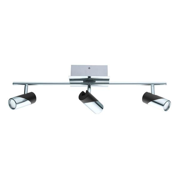 Bernedo 2 ft. Chrome and Black Integrated LED Track Lighting Kit
