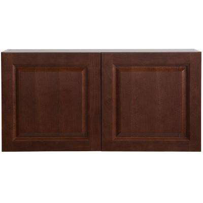 Benton Assembled 36 in. x 18 in. x 12.6 in. Wall Cabinet in Amber