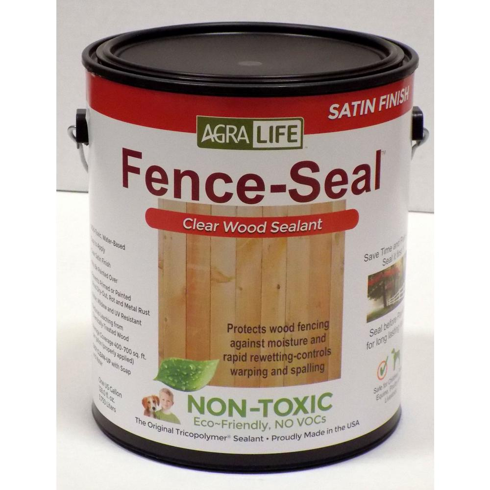 Agralife Voc Free Non Toxic Fence Seal 1 Gal Clear Satin