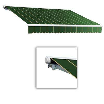 12 ft. Galveston Semi-Cassette Manual Retractable Awning (120 in. Projection) in Forest Pin