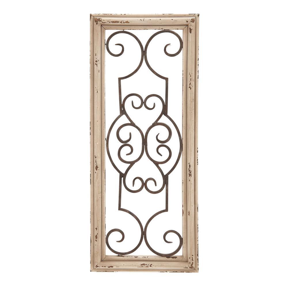 Wood and Metal Panel Wall Decor