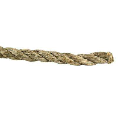 3/4 in. x 1 ft. Manila Twist Rope, Natural