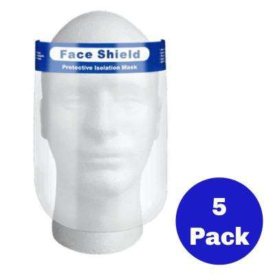 Face Shield Transparent Protective Cover (Pack of 5)