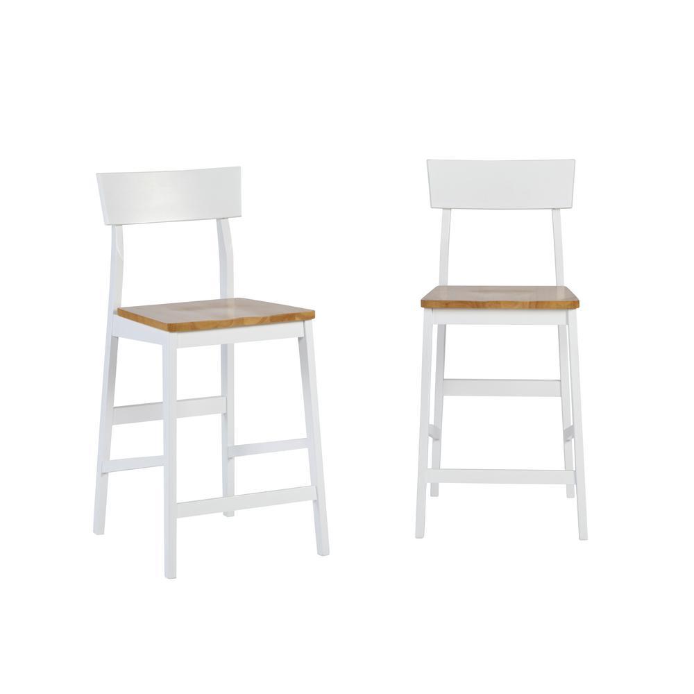 Progressive Furniture Christy Light Oak and White Counter Chairs (2-Count), Light Oak/White