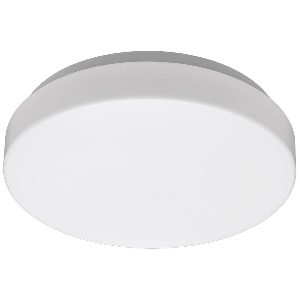 Commercial Electric Low Profile 7 In White Round 4000k Bright White Led Flush Mount Ceiling Light Fixture 810 Lumens Modern Smooth Cover 54663141 The Home Depot