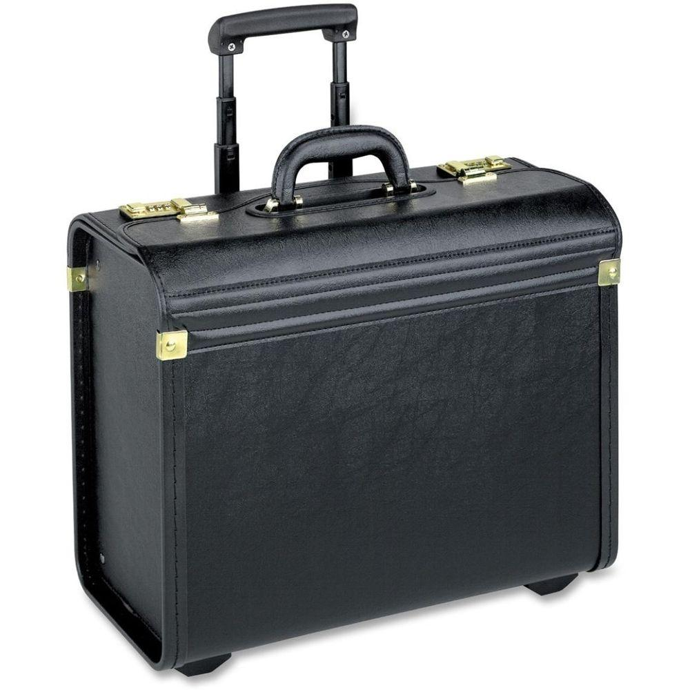 Lorell Vinyl Travel/Luggage Case, Black