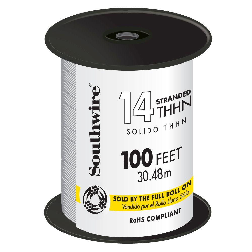 100 ft. 14 White Stranded THHN Wire