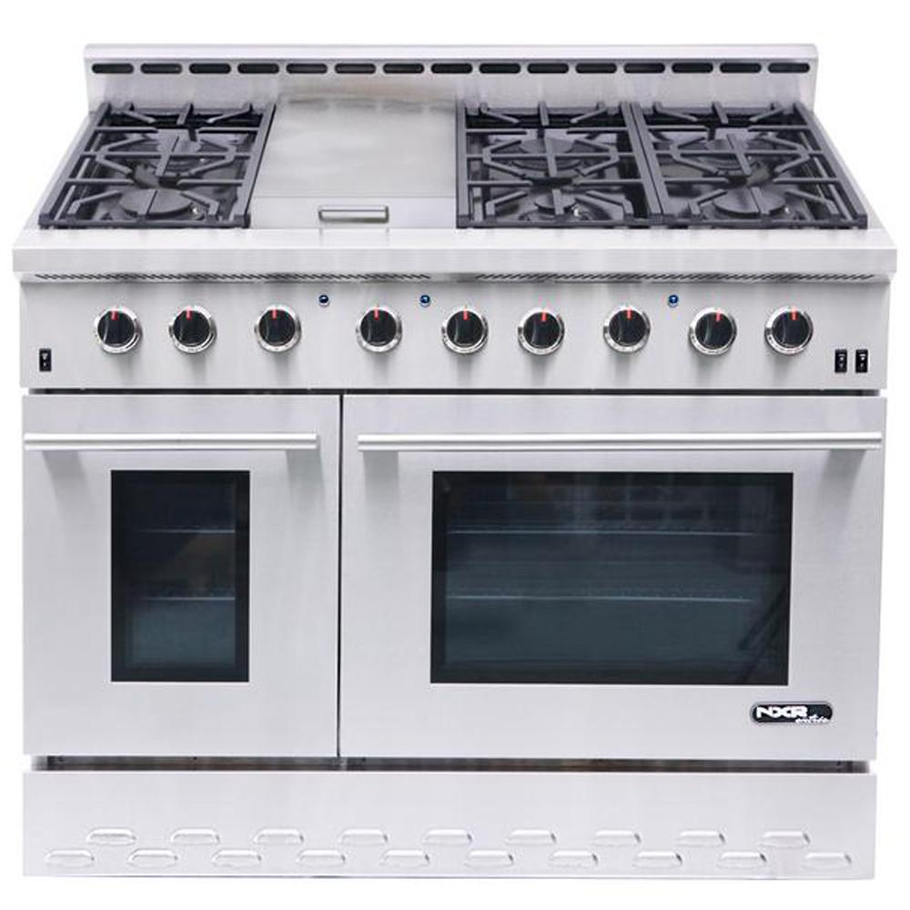 Nxr Entree 48 In 7 2 Cu Ft Professional Style Gas Range With Convection
