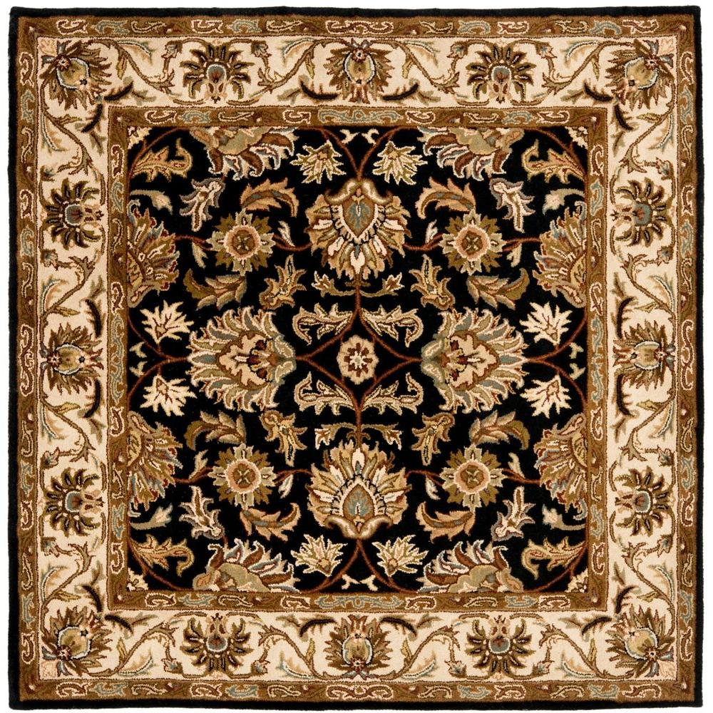 Safavieh Heritage Black/Beige 4 ft. x 4 ft. Square Area Rug