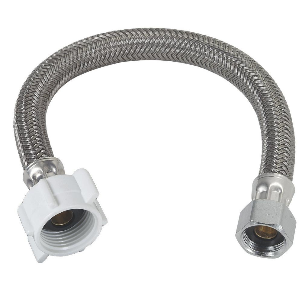 "Faucet  hose Stainless Steel Braided Water Supply Line 3//8/"" 23in//58cm 2 Pcs"