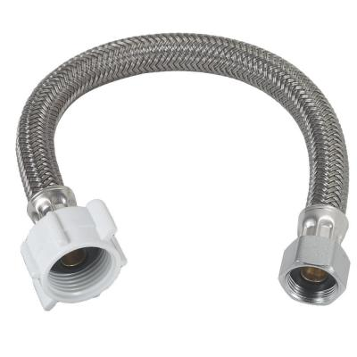 1/2 in. Compression x 7/8 in. Ballcock Nut x 12 in. Braided Polymer Toilet Connector
