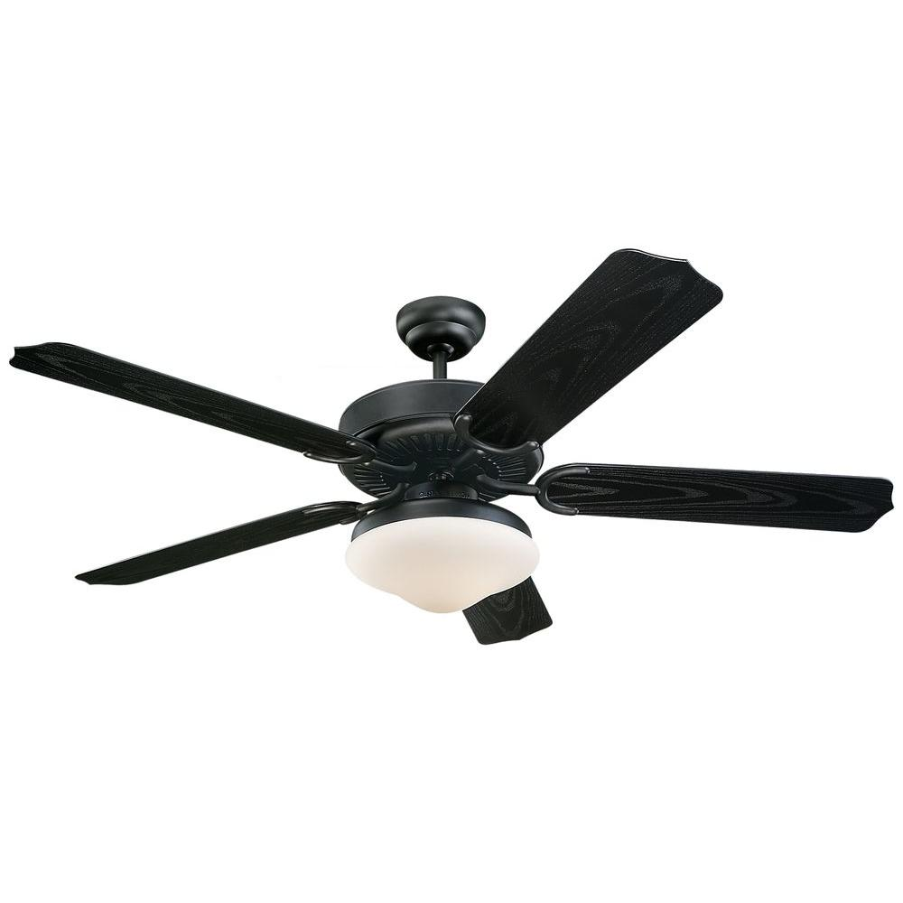 Monte Carlo Weatherford Deluxe 52 In Matte Black Abs Ceiling Fan