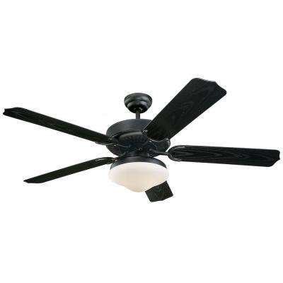 Weatherford Deluxe 52 in. Matte Black ABS Ceiling Fan