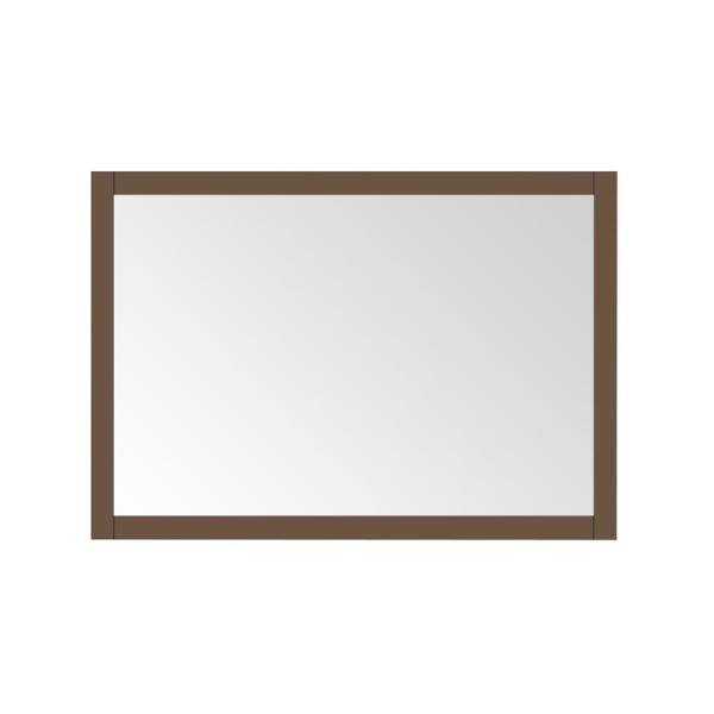 Aiken 40 in. W x 28 in. H Framed Rectangular Bathroom Vanity Mirror in Almond Latte