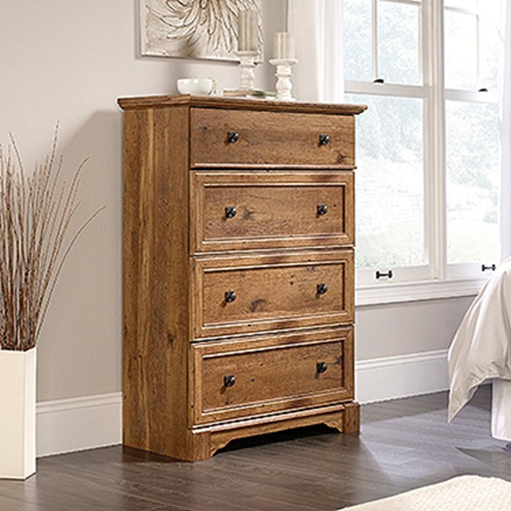SAUDER Palladia 4 Drawer Vintage Oak Chest The Home Depot