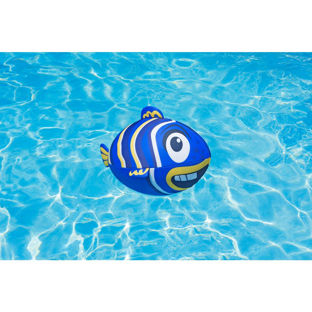 Poolmaster Fish Swimming Pool Beach Ball, Blue-72772 - The Home Depot