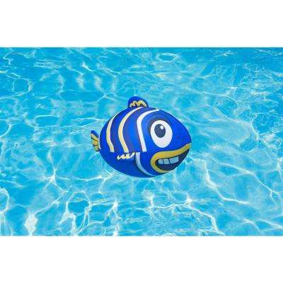 Fish Swimming Pool Beach Ball, Blue