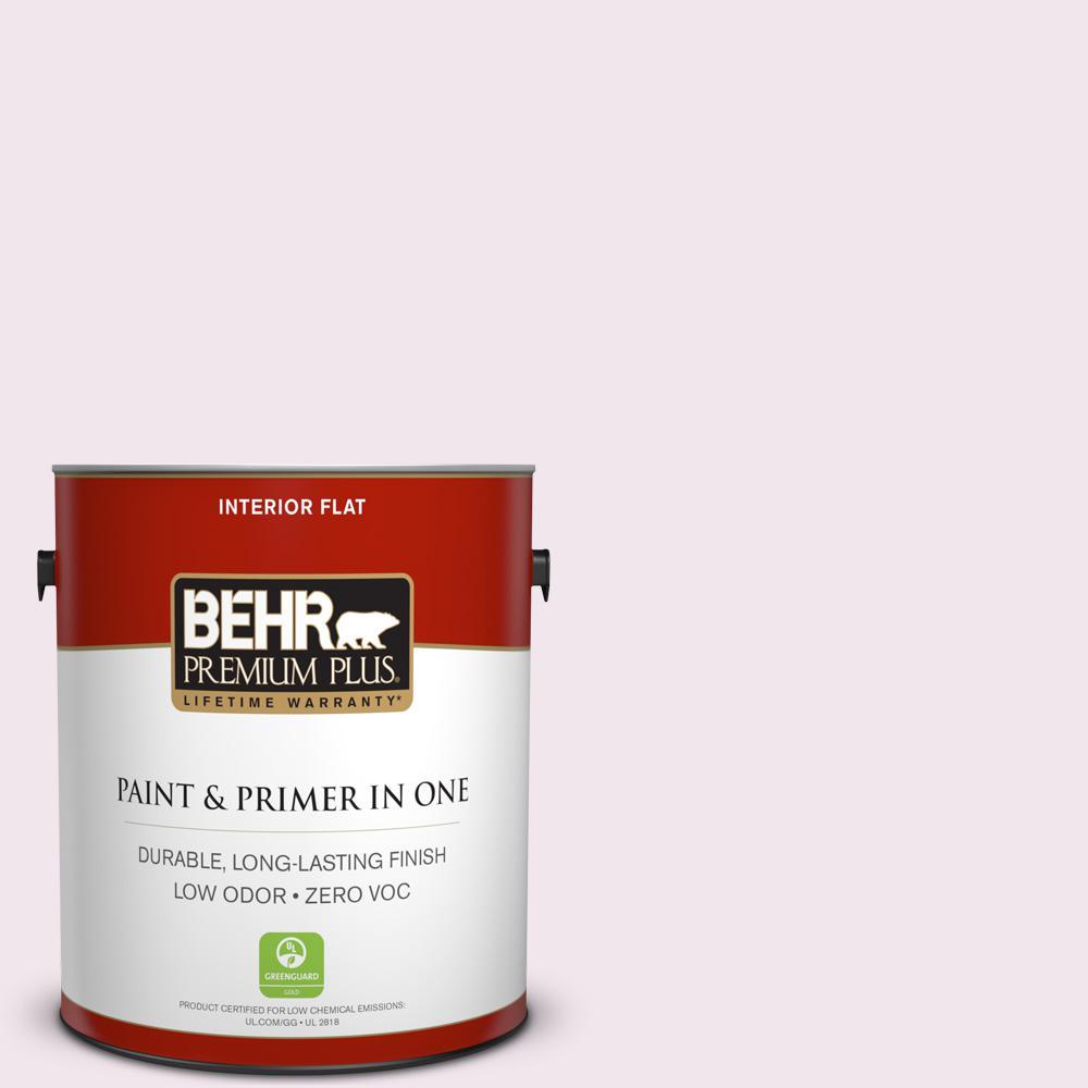 BEHR Premium Plus 1-gal. #650A-1 Rose Fantasy Zero VOC Flat Interior Paint