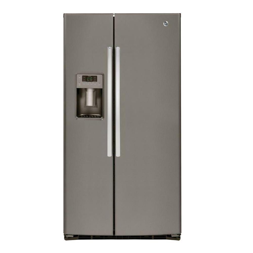25.4 cu. ft. Side by Side Refrigerator in Slate