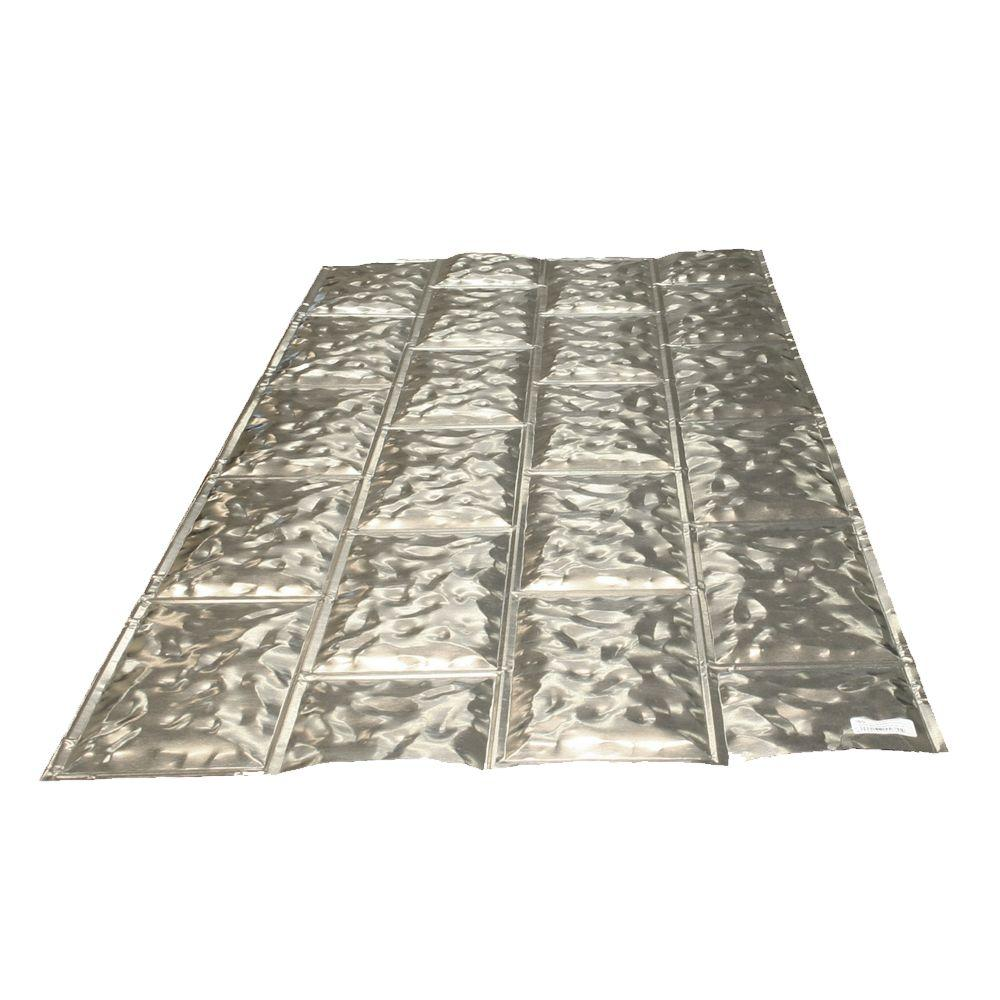 Gibraltar Building Products 1/8 in. x 28 in. x 5 ft. Galvanized ...